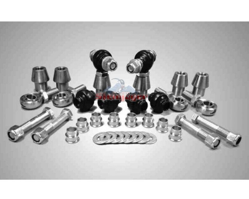 Steinjager J0005923 Rod Ends Set 0.75-16 for 1.250 OD x .095 Ball ID 3HSS-20095-12-12-TT-ZZ 0.75-16 x 0.75
