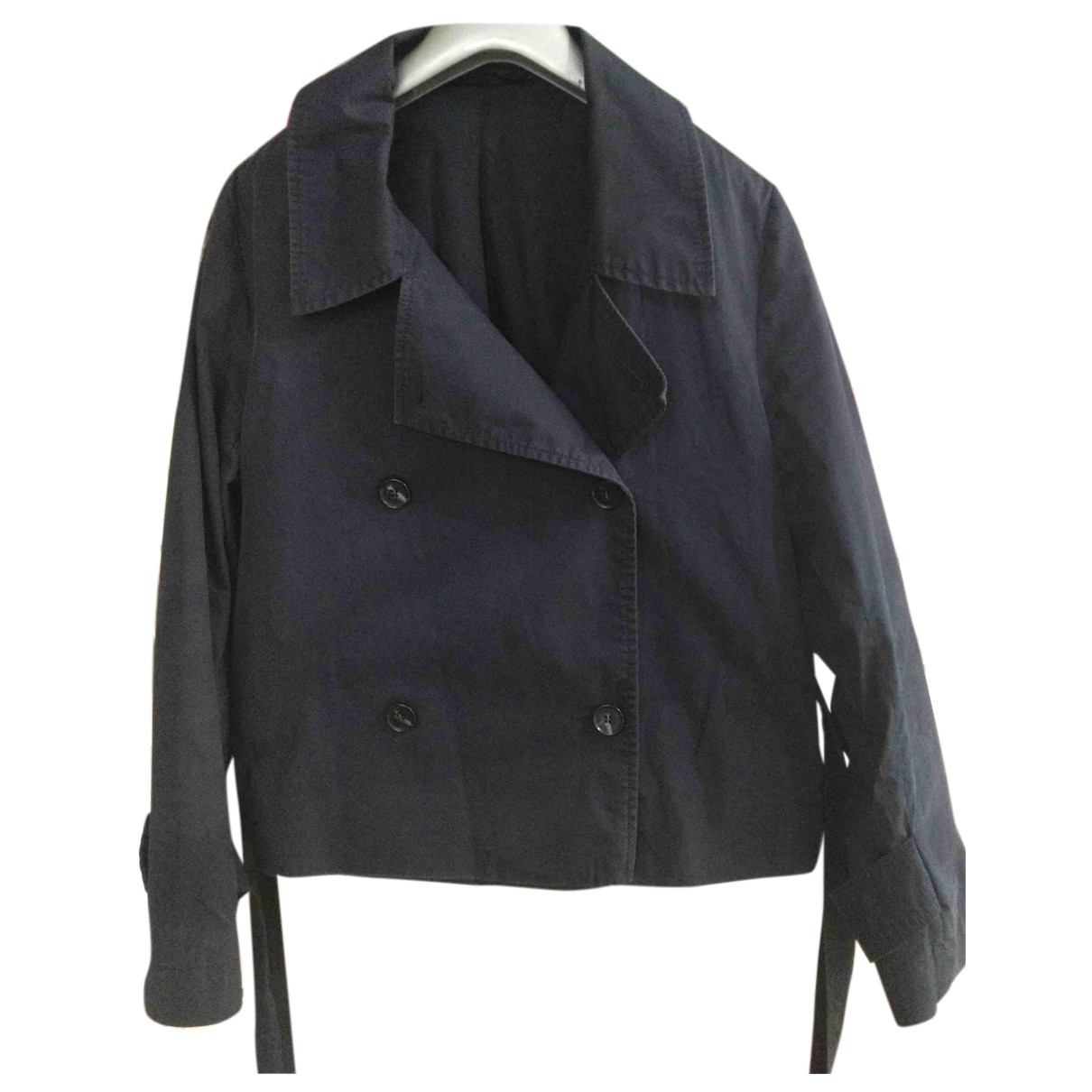 Cos N Blue Cotton Trench coat for Women 44 FR
