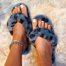 Leopard Fluffy Flip Flops