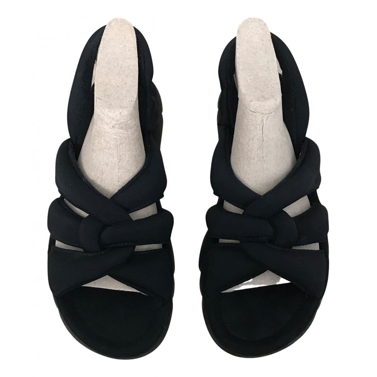 Camper \N Black Cloth Sandals for Women 41 EU
