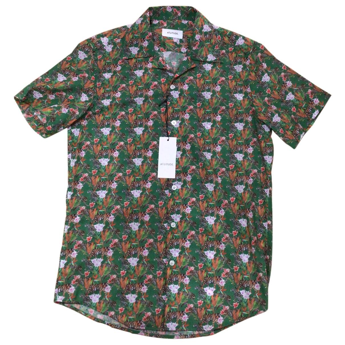Non Signé / Unsigned N Multicolour Cotton Shirts for Men M International