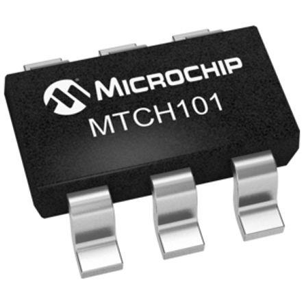 Microchip MTCH101-I/OT , Capacitive Proximity Detector, 2 → 5.5 V 6-Pin SOT-23 (25)