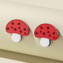 Mushroom Design Stud Earrings