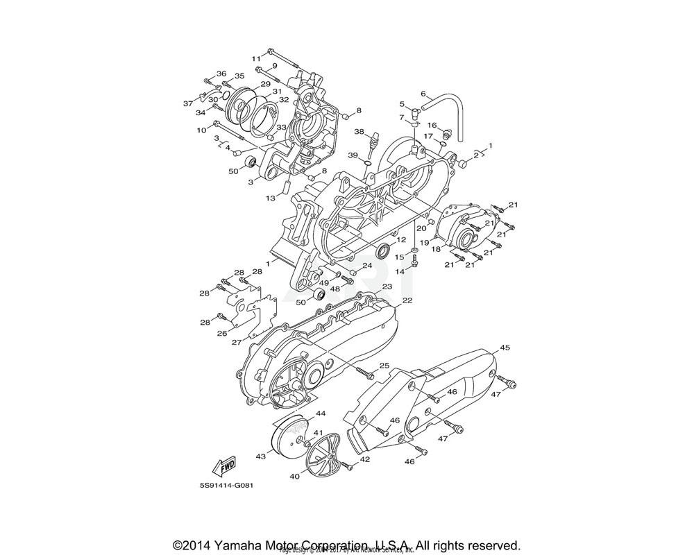 Yamaha OEM 90154-06827-00 SCREW, BINDING