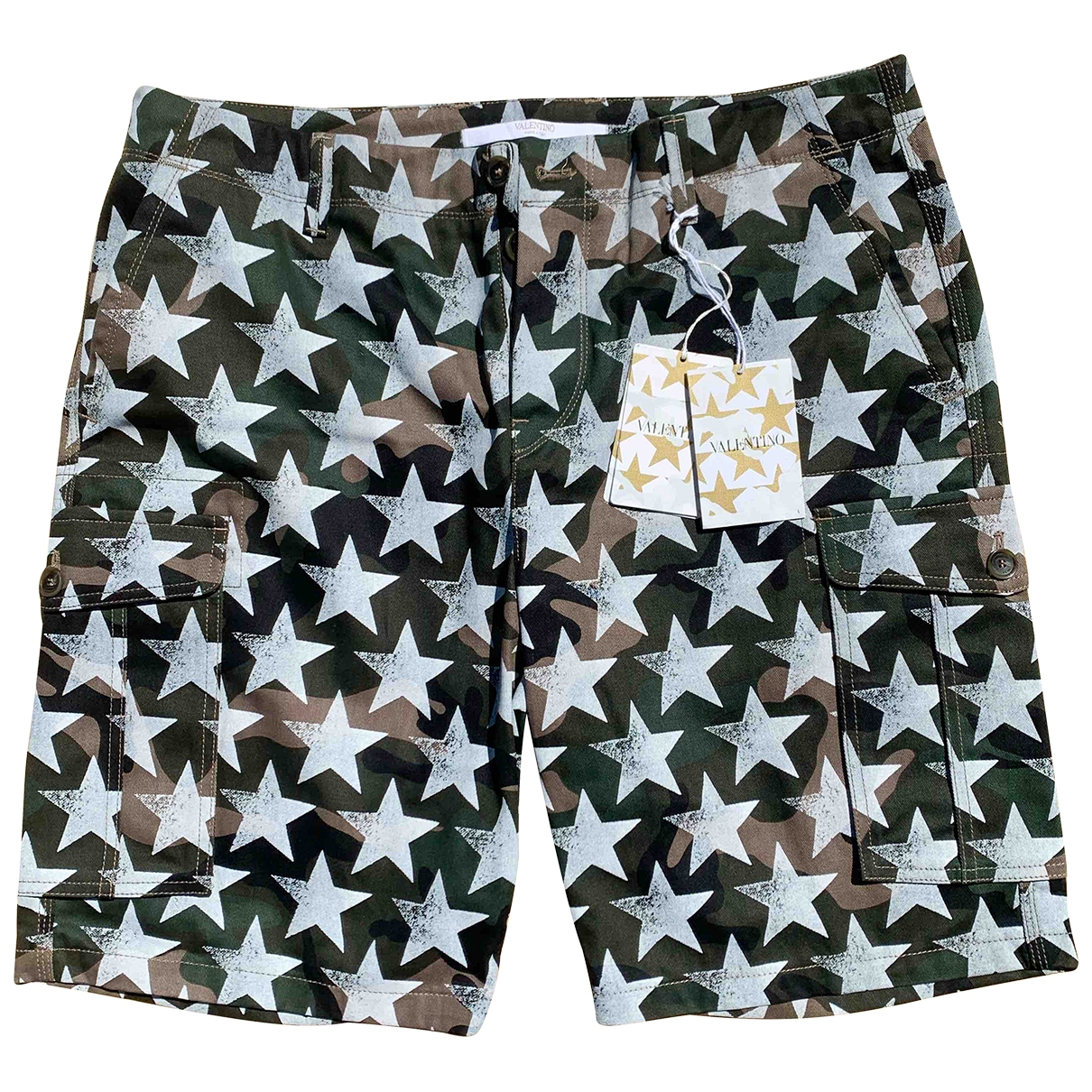Valentino Garavani \N Green Cotton Shorts for Men 52 IT