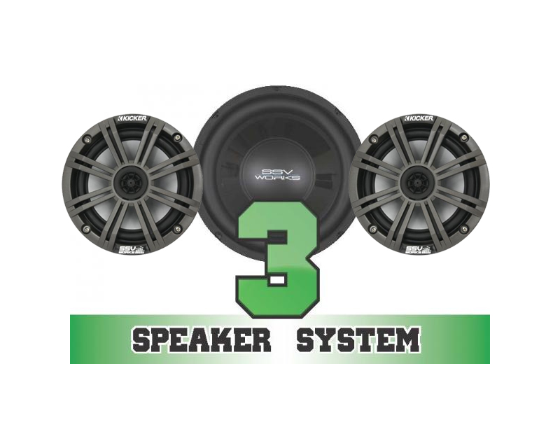 SSV Works RZR-3K Complete 3 Kicker Speaker System Polaris RZR S 570 EPS 2017