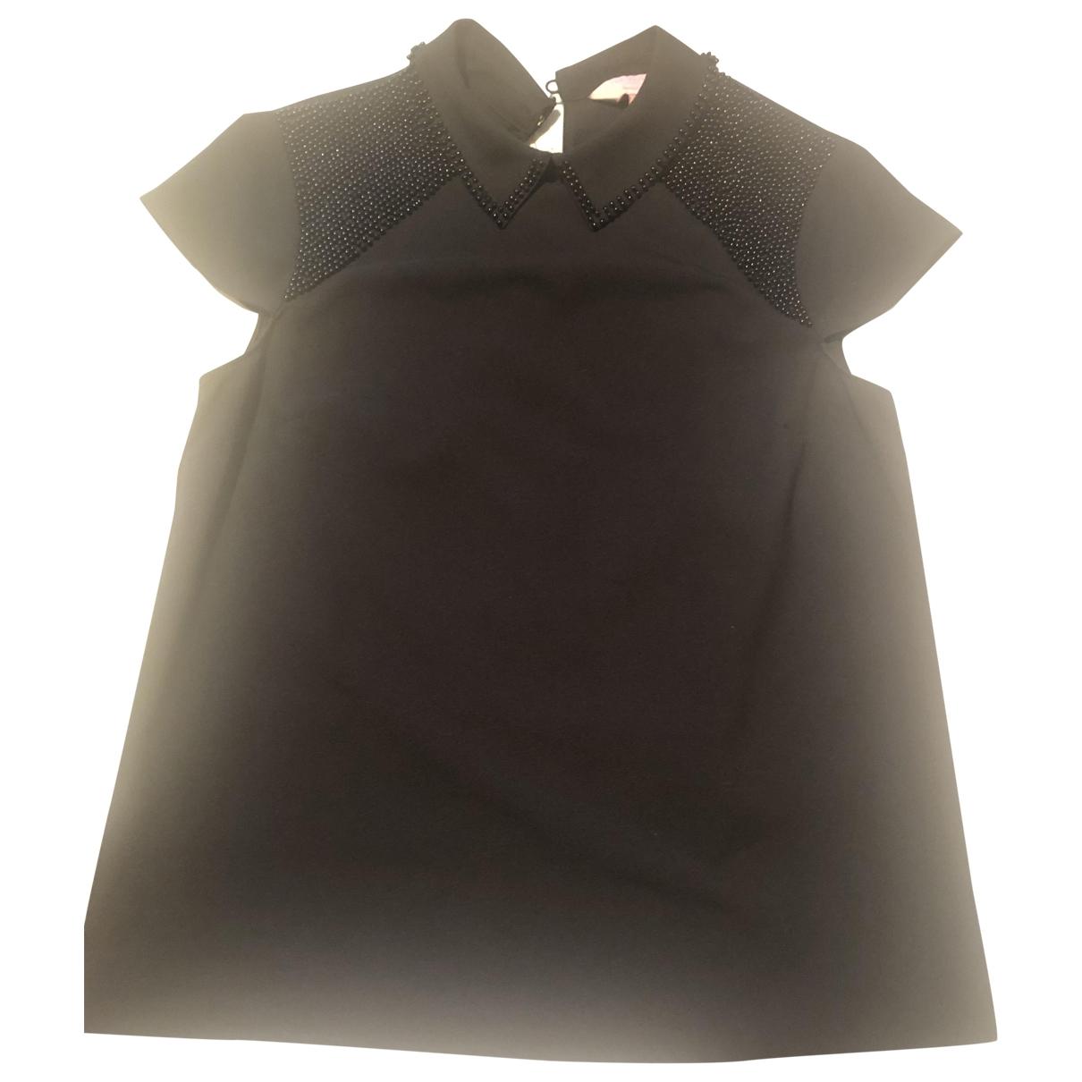 Ted Baker - Top   pour femme en coton - noir