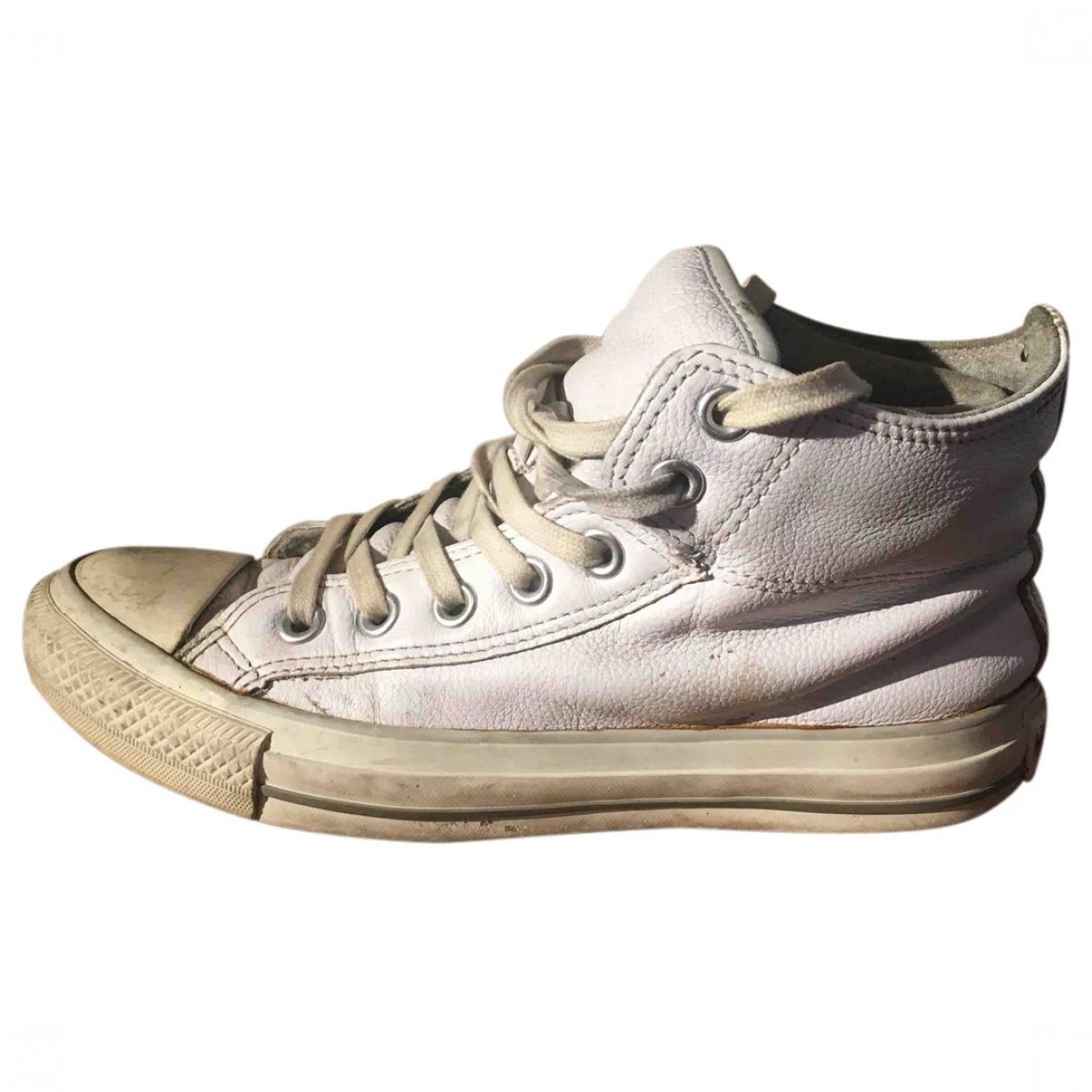 Converse - Baskets   pour femme en cuir - blanc