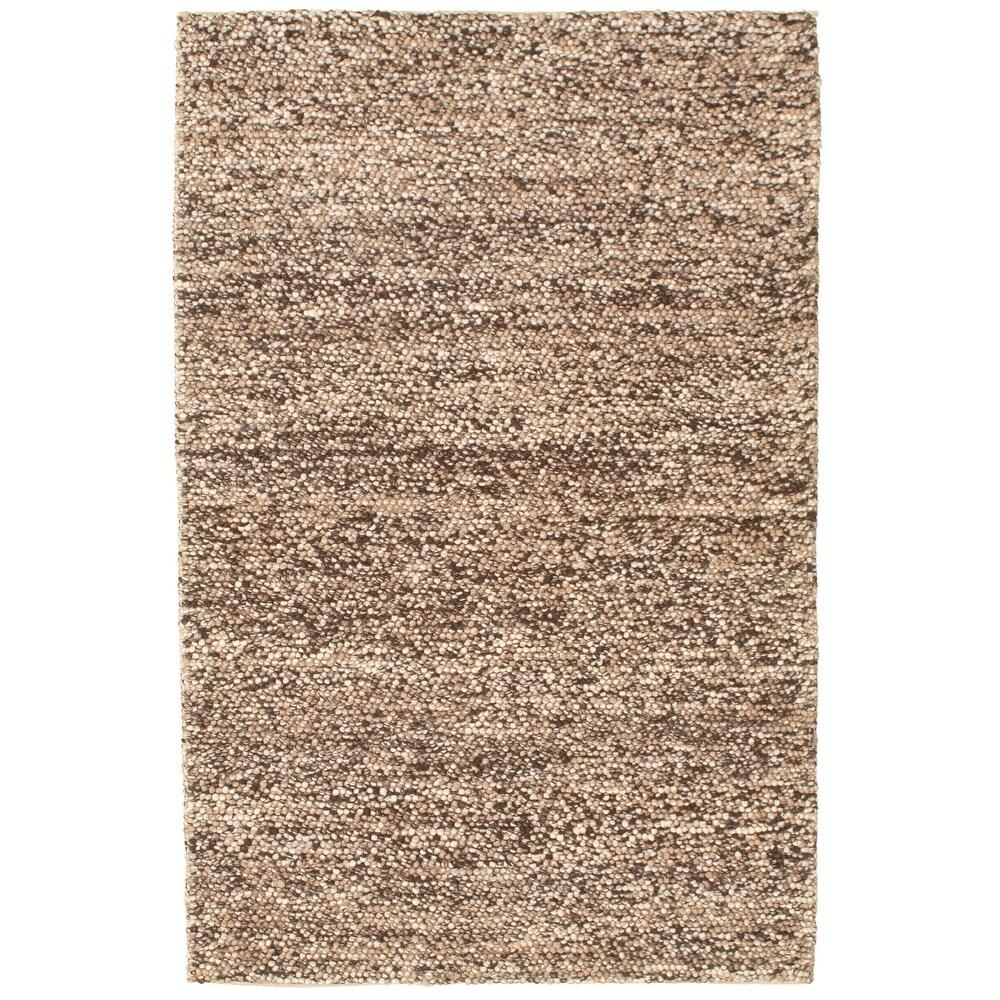 ECARPETGALLERY  Braid weave Sienna Tan Wool Rug - 51 x 80 (Tan - 51 x 80)