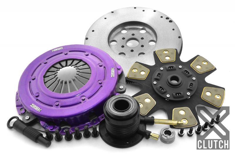 XClutch XKFD26690-1B Clutch Kit with Chromoly Flywheel + HRB Stage 2 Sprung Ceramic Clutch Disc