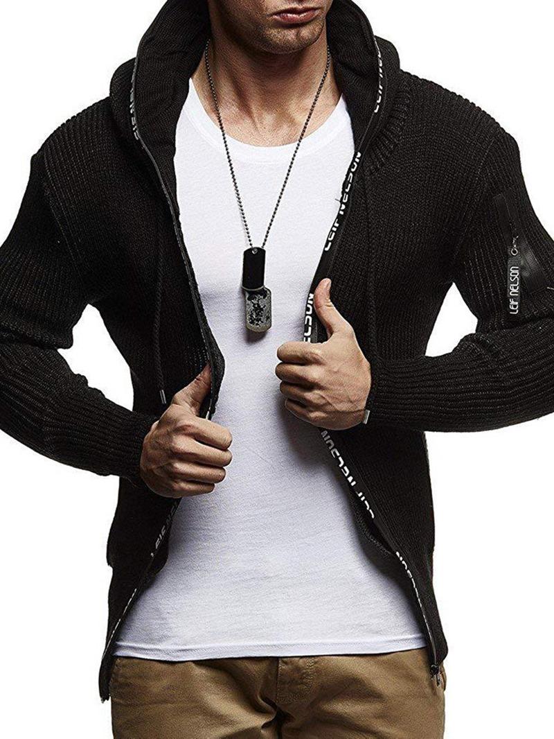 Ericdress Hooded Color Block Slim European Men's Sweater