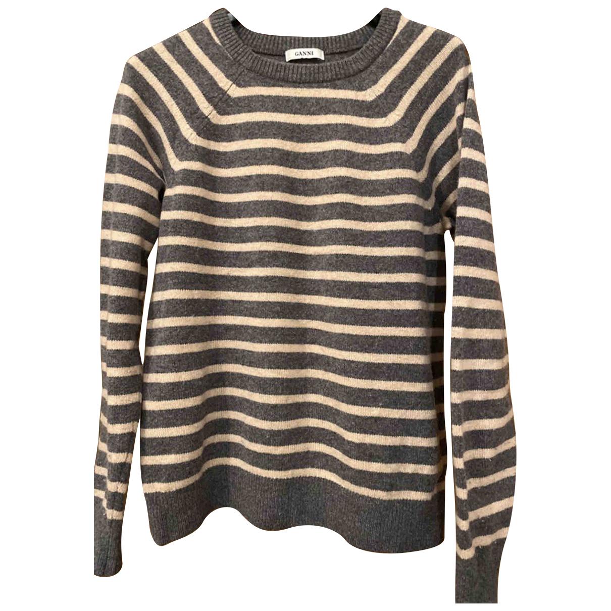 Ganni - Pull   pour femme en laine - beige