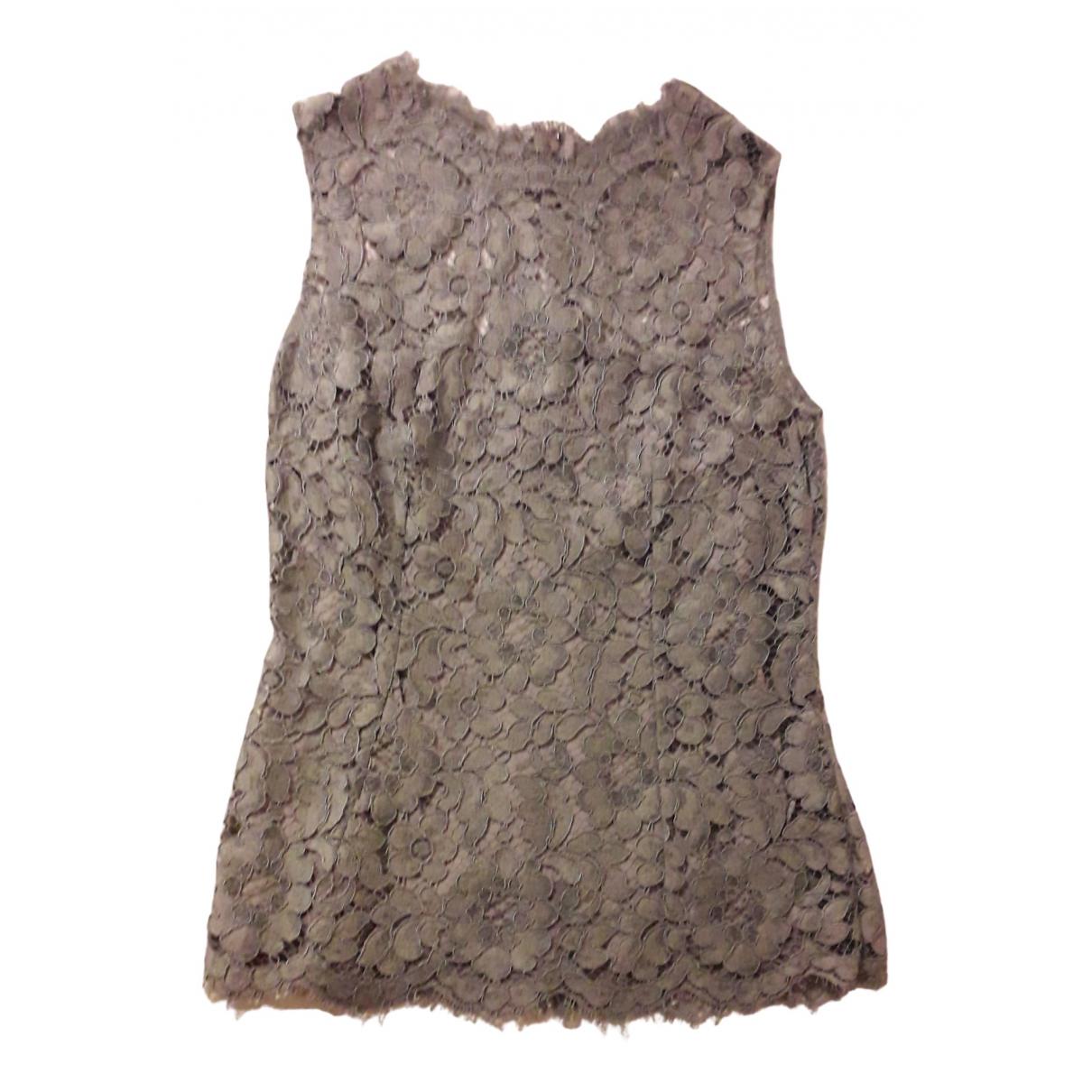 Dolce & Gabbana - Top   pour femme en dentelle - gris