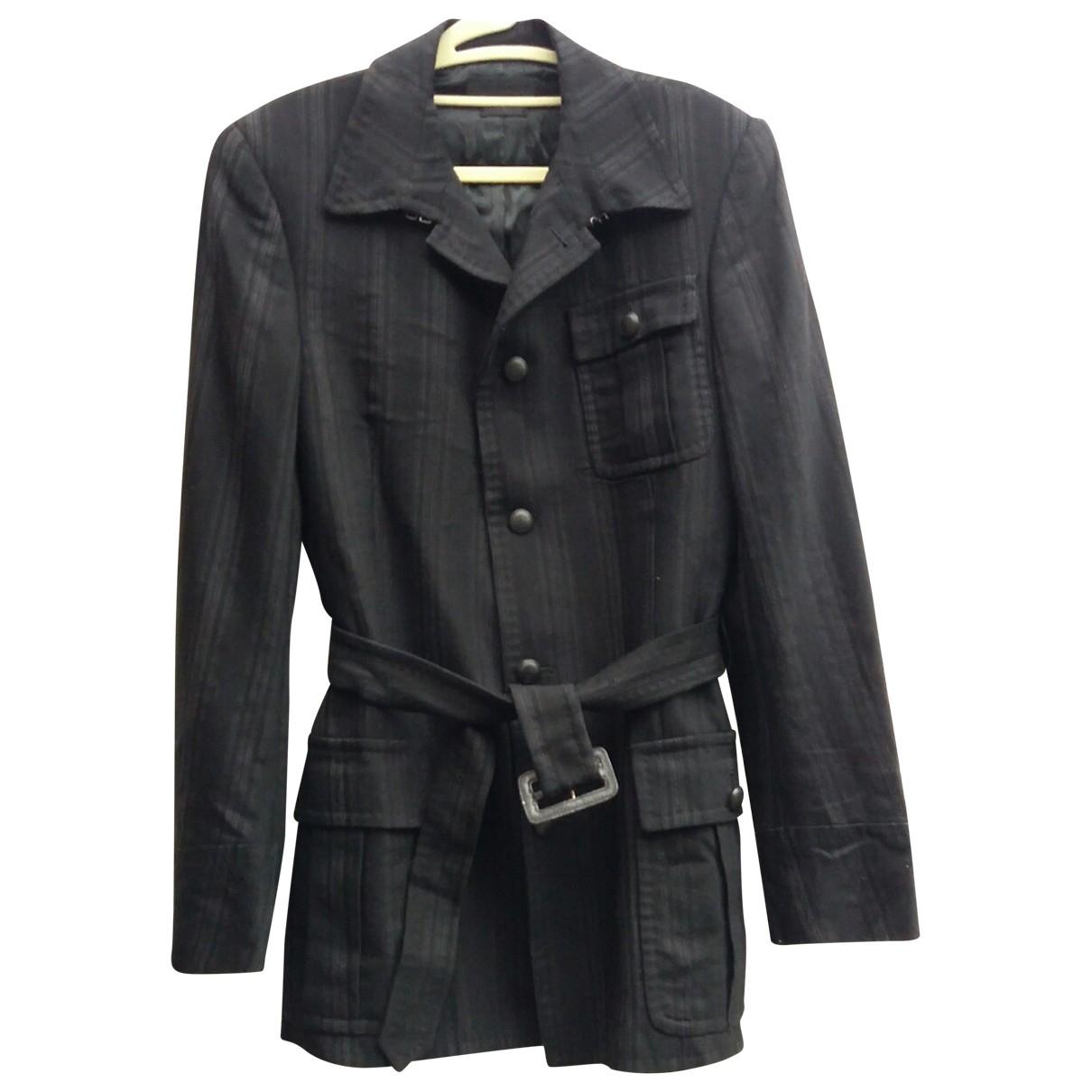 Alexander Mcqueen N Black Wool coat  for Men 50 IT