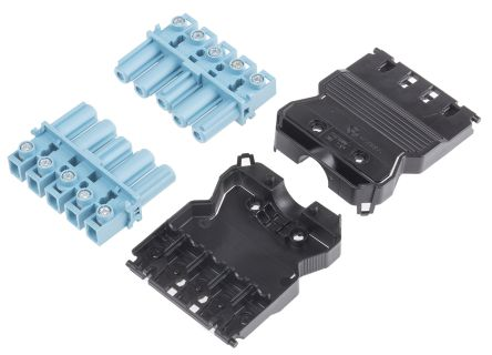 Wieland GST18i5 Series, Female 5 Pole Connector, Cable Mount, with Strain Relief, Rated At 20A, 250 V, Blue (5)