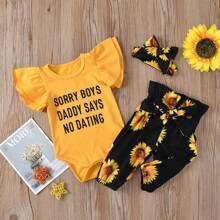 Body mit Sonnenblumen, Buchstaben Grafik & Hut