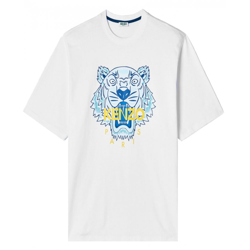 Kenzo Tiger T-shirt Colour: WHITE, Size: EXTRA EXTRA LARGE