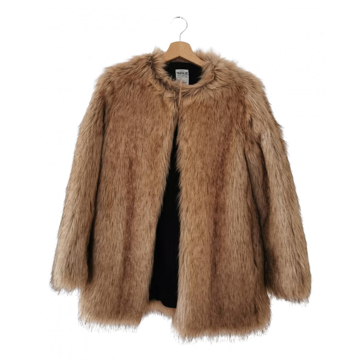 Zara - Veste   pour femme en fourrure synthetique - beige
