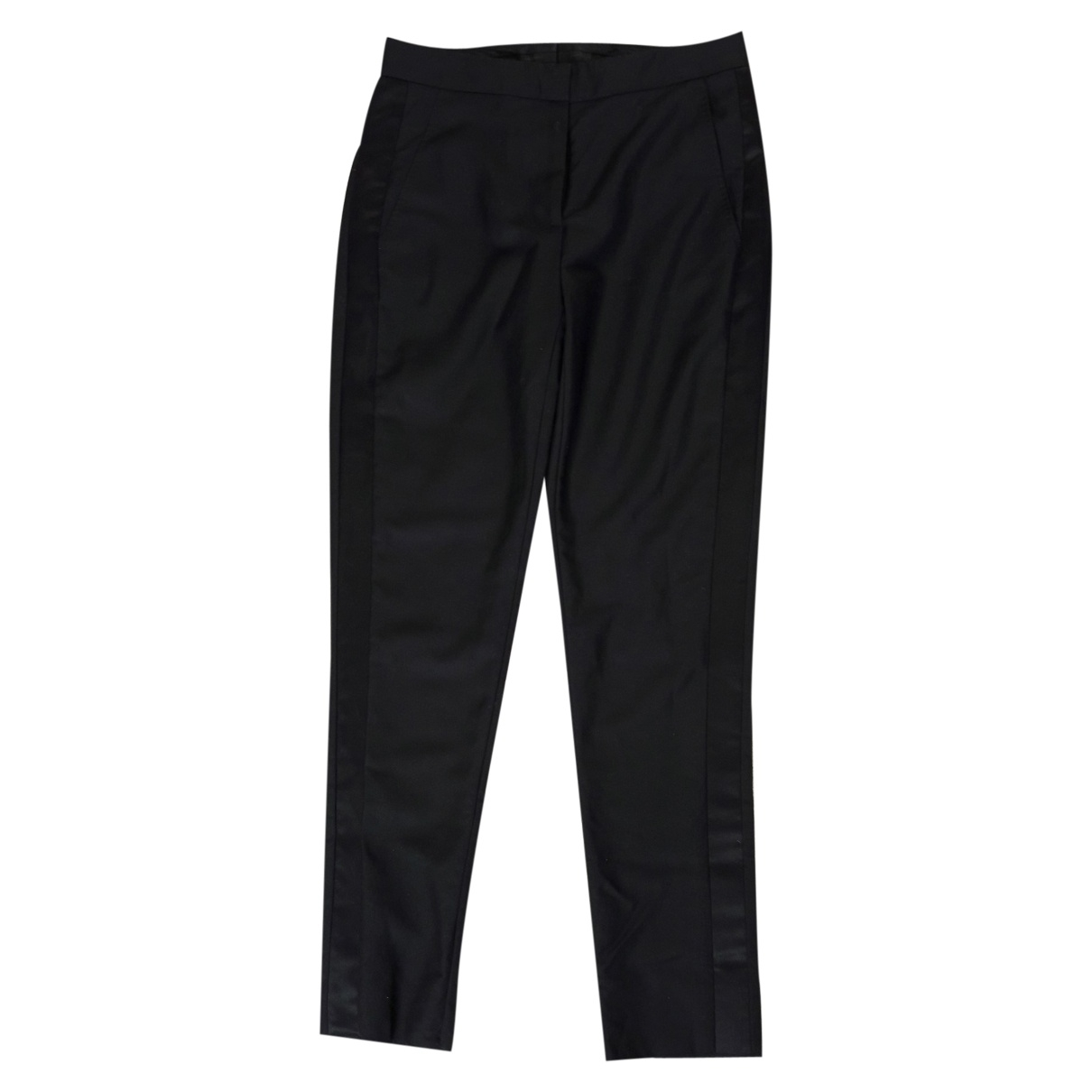 Burberry \N Black Wool Trousers for Women 6 UK