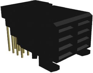 TE Connectivity Z-PACK Series 2mm Pitch Futurebus+ Backplane Connector, Female, Right Angle, 8 Way