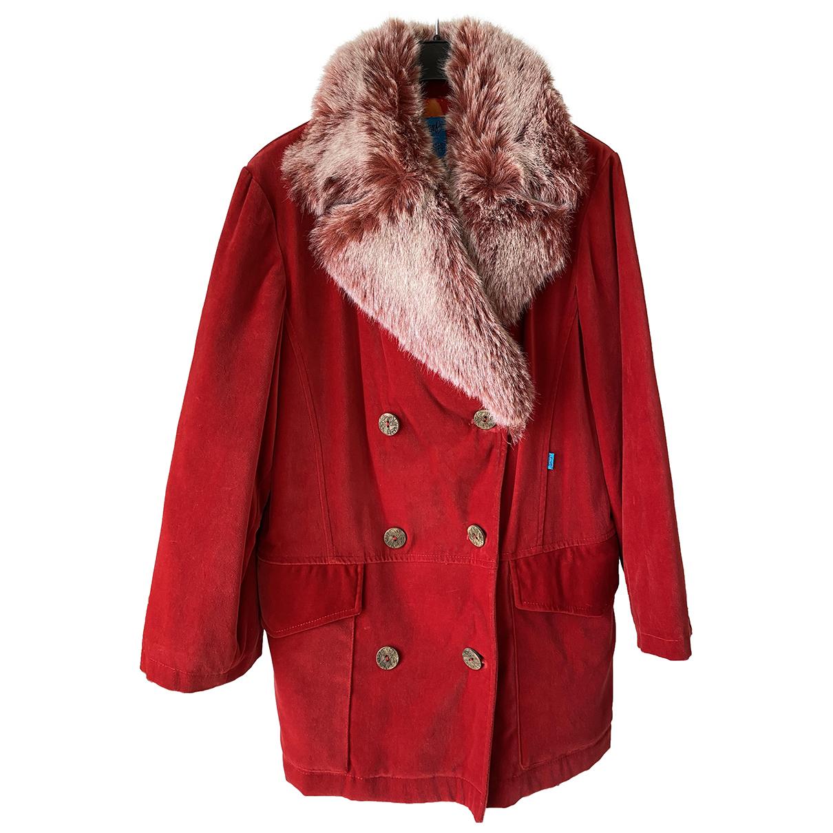 Christian Lacroix - Manteau   pour femme en velours - rouge
