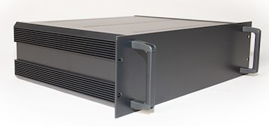 RS PRO , 3U Rack Mount Case, 335 x 425 x 128.6mm, Black