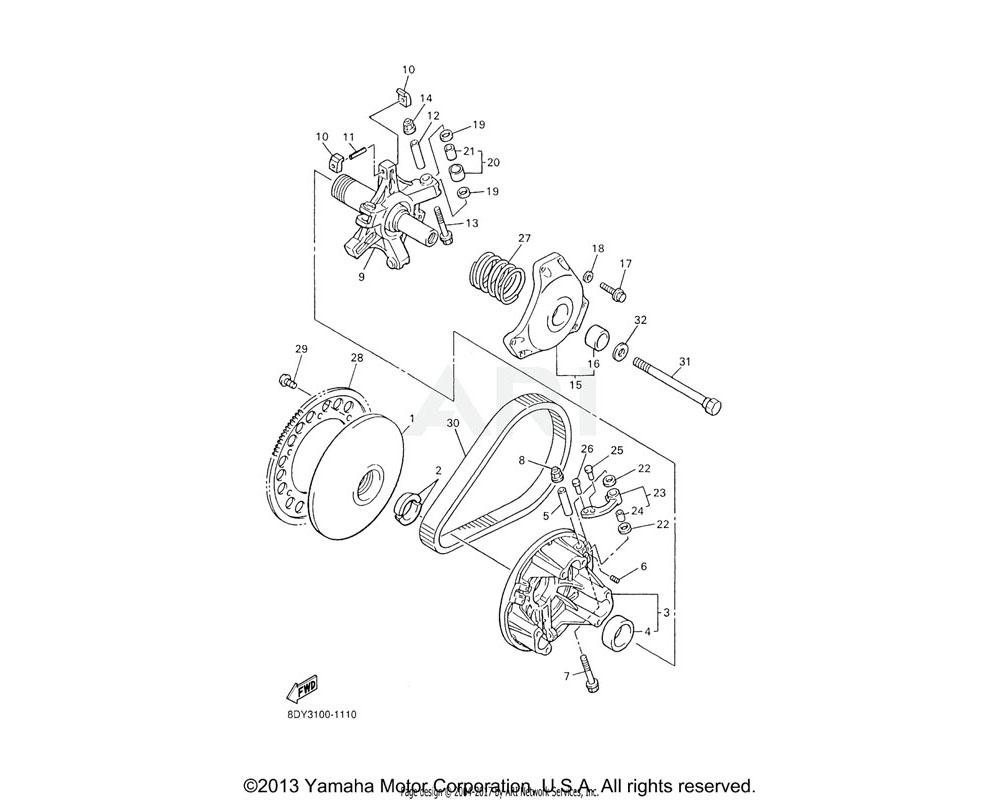 Yamaha OEM 90501-624L8-00 SPRING, COMPRESSION | (OR-SL-OR)