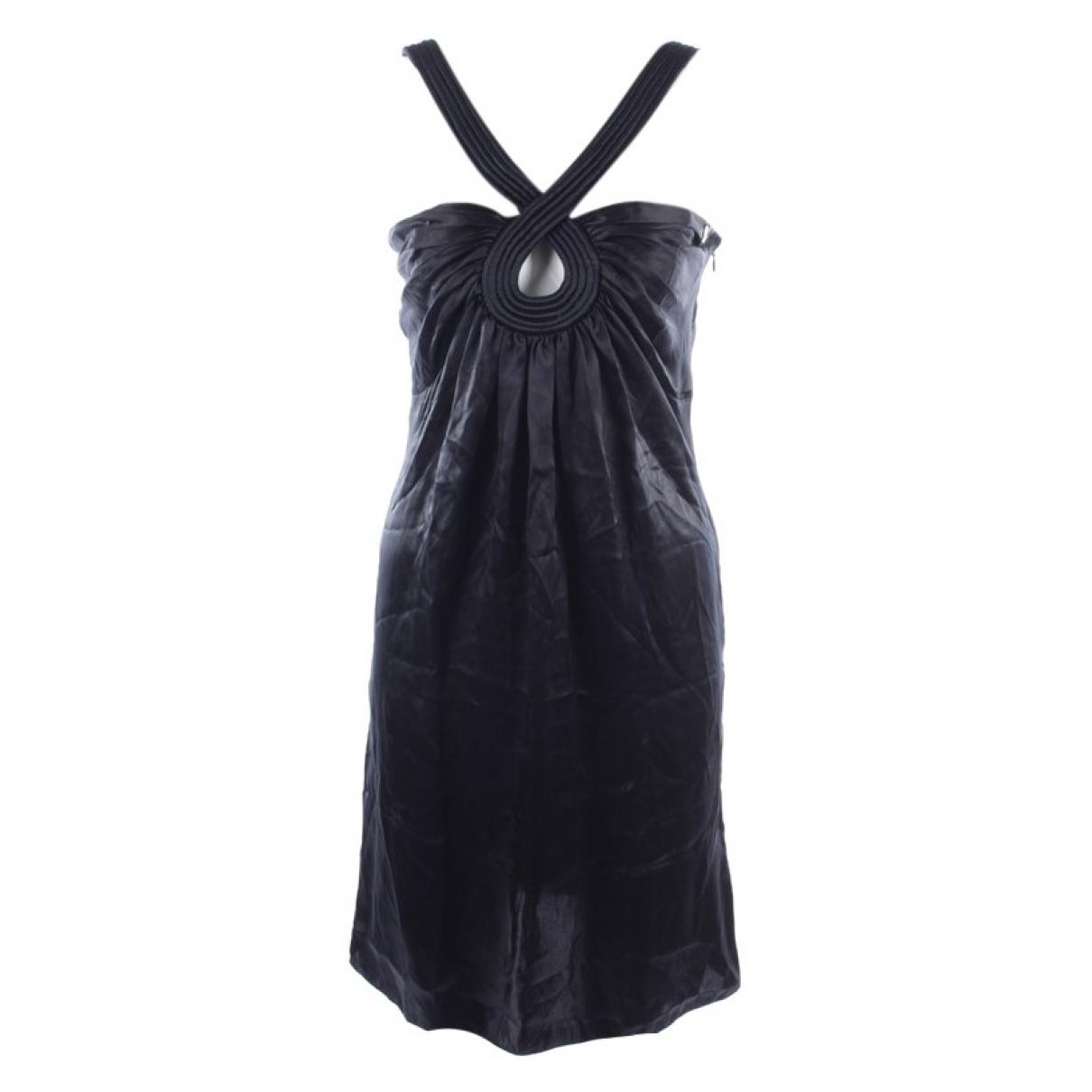 John Galliano \N Black Silk dress for Women 36 FR