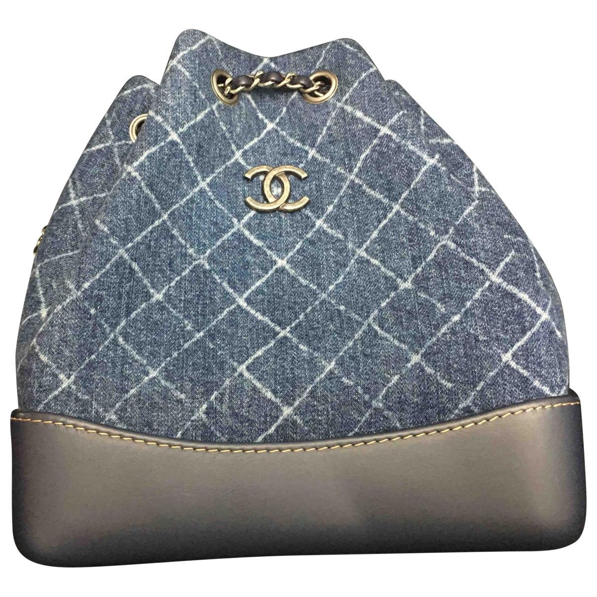 Chanel - Sac a dos Gabrielle pour femme en denim - bleu