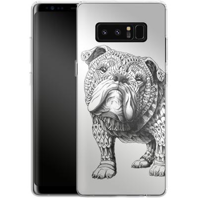 Samsung Galaxy Note 8 Silikon Handyhuelle - English Bulldog von BIOWORKZ