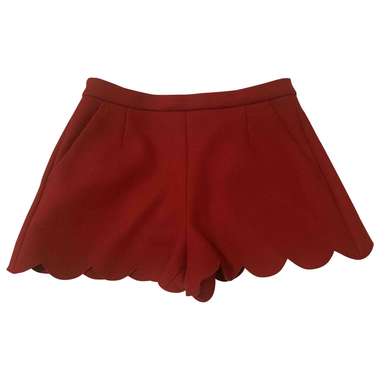 Red Valentino Garavani - Short   pour femme en laine - rouge