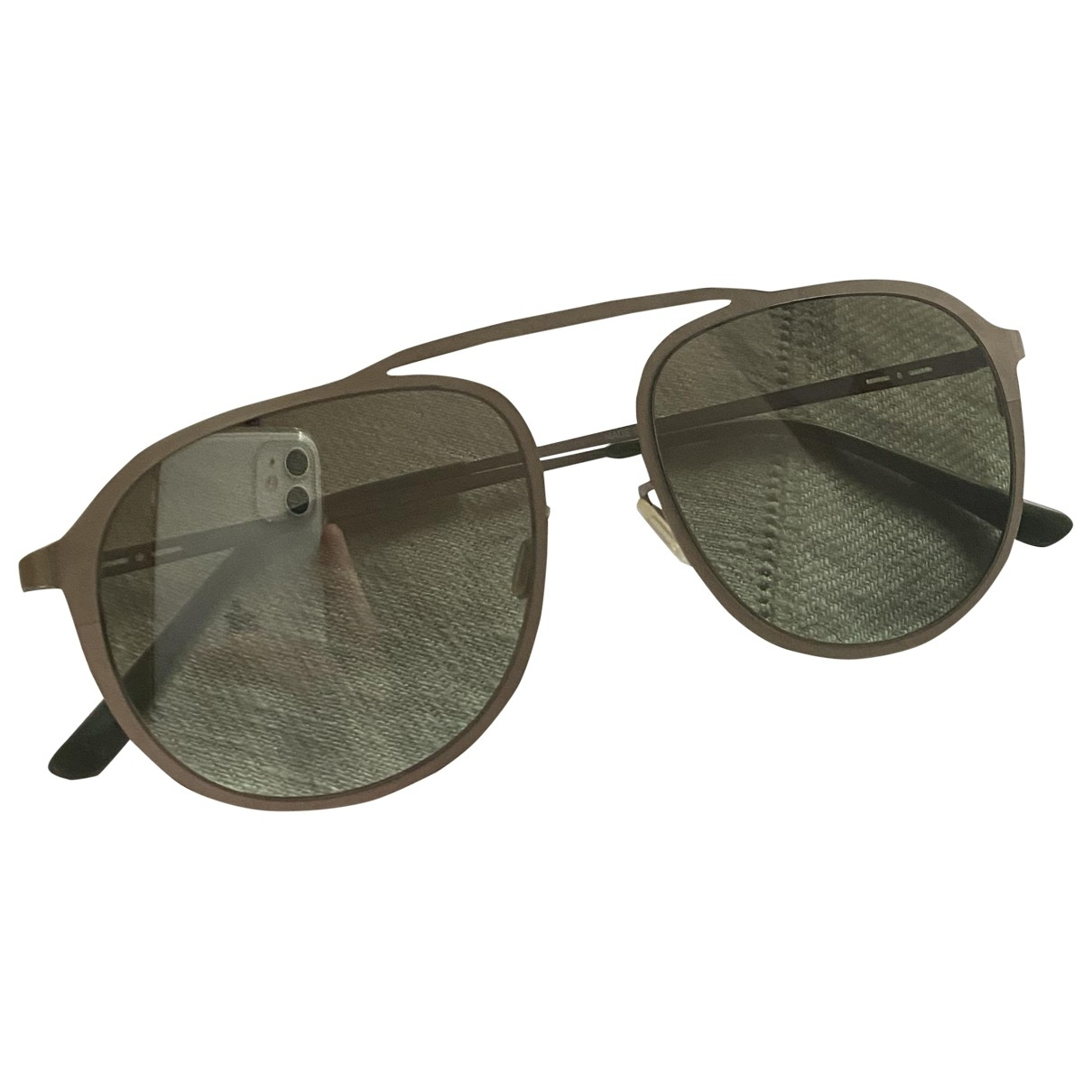 Italia Independent \N Sonnenbrillen in  Silber Metall