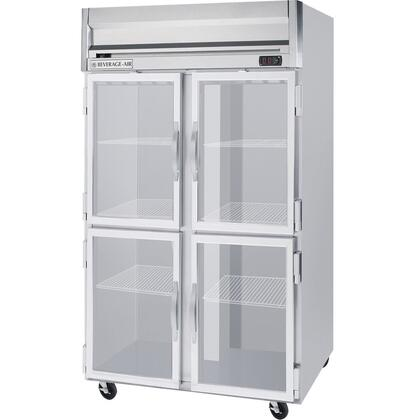 HRP2-1HG Horizon Series Two Sections Glass Half Door Reach-In Refrigerator  49 cu.ft. capacity  Stainless Steel Front and Sides  Aluminum