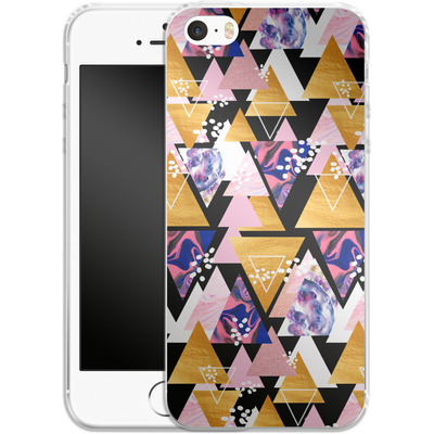 Apple iPhone 5 Silikon Handyhuelle - Blush Geo Black von Mukta Lata Barua