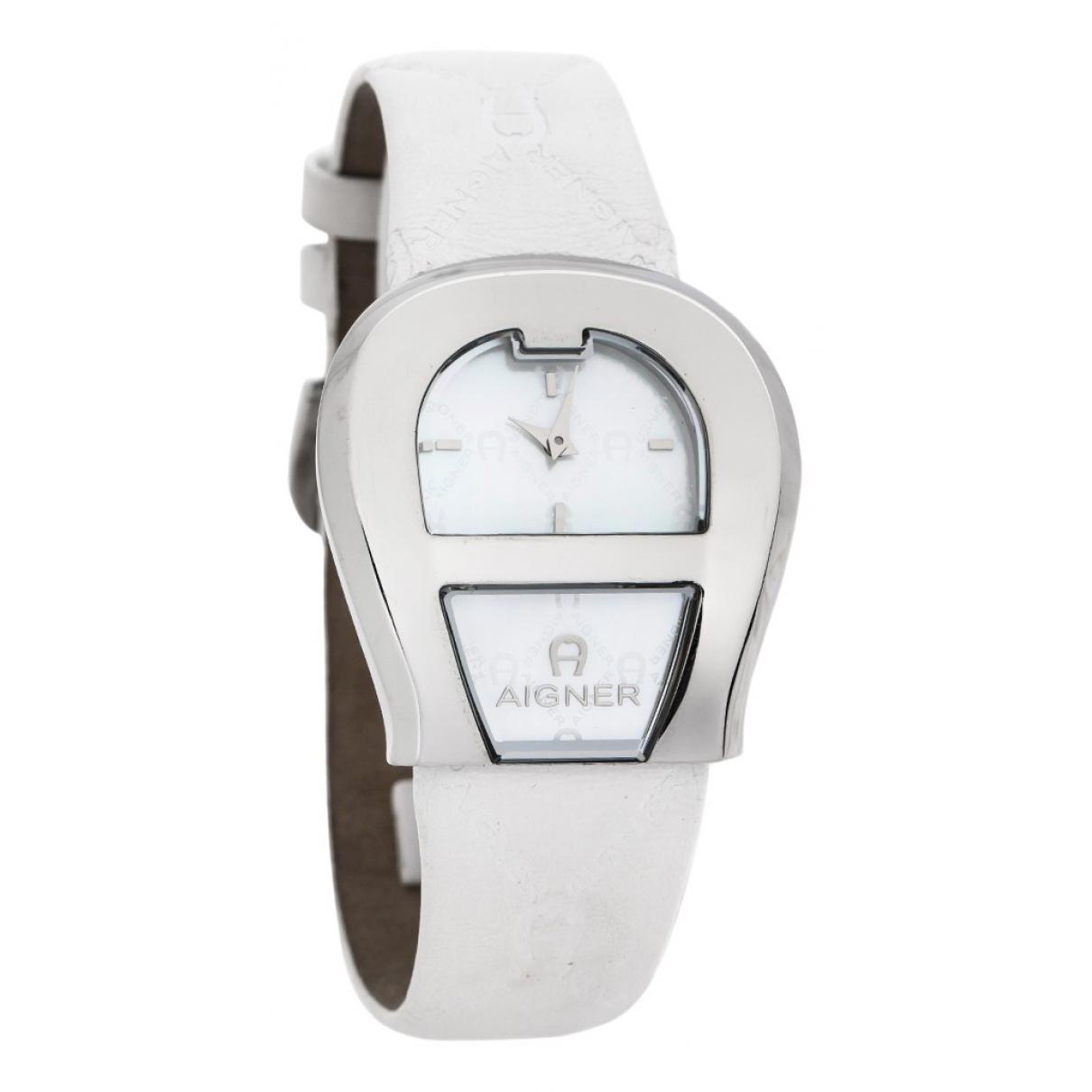 Aigner \N White Steel watch for Women \N