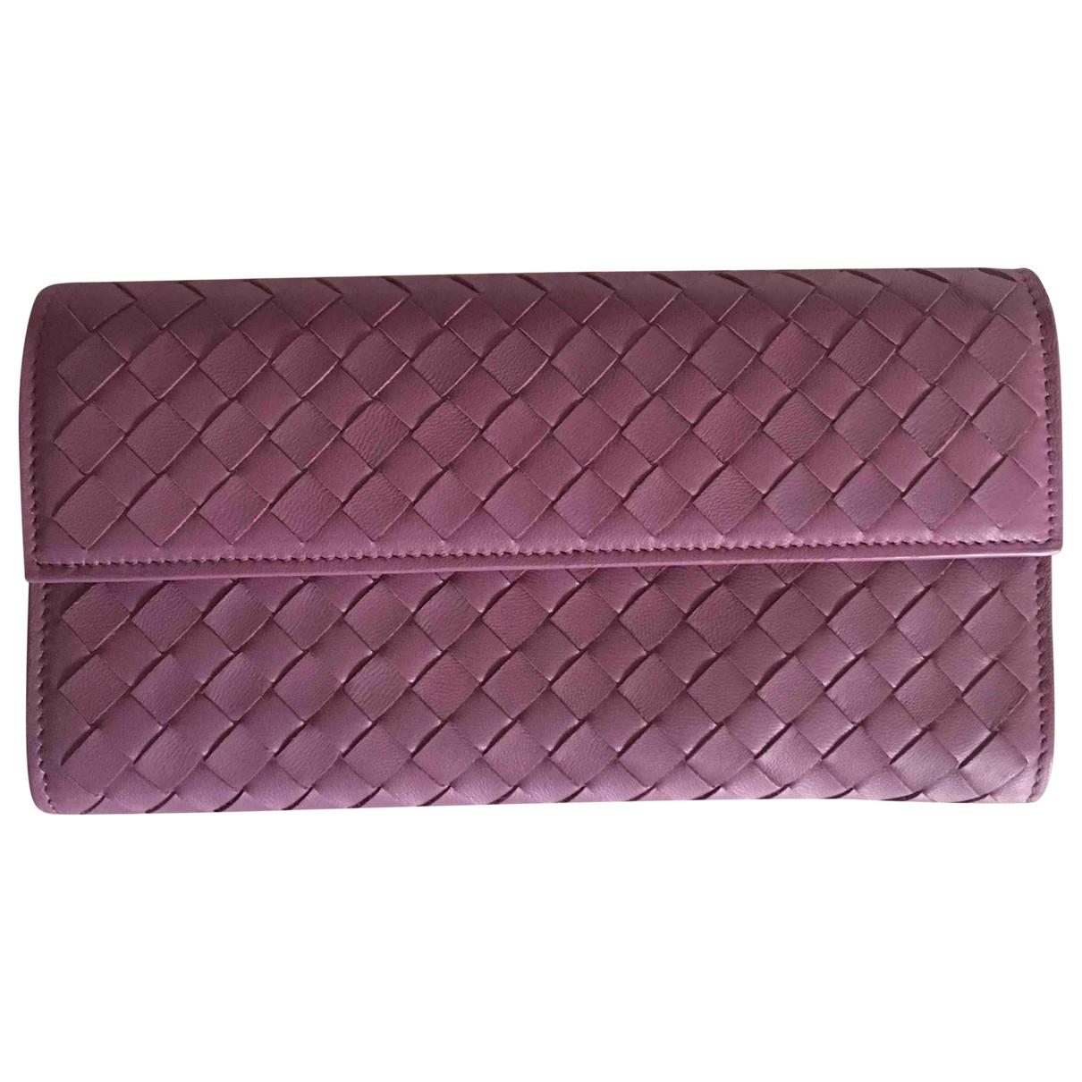 Bottega Veneta Intrecciato Purple Leather wallet for Women \N