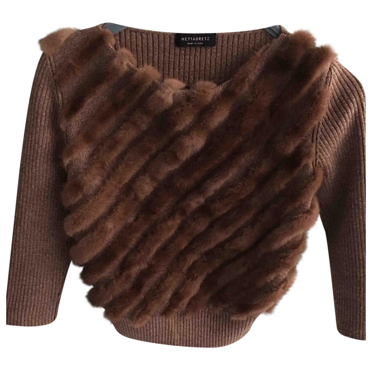 Autre Marque - Pull   pour femme en laine - camel