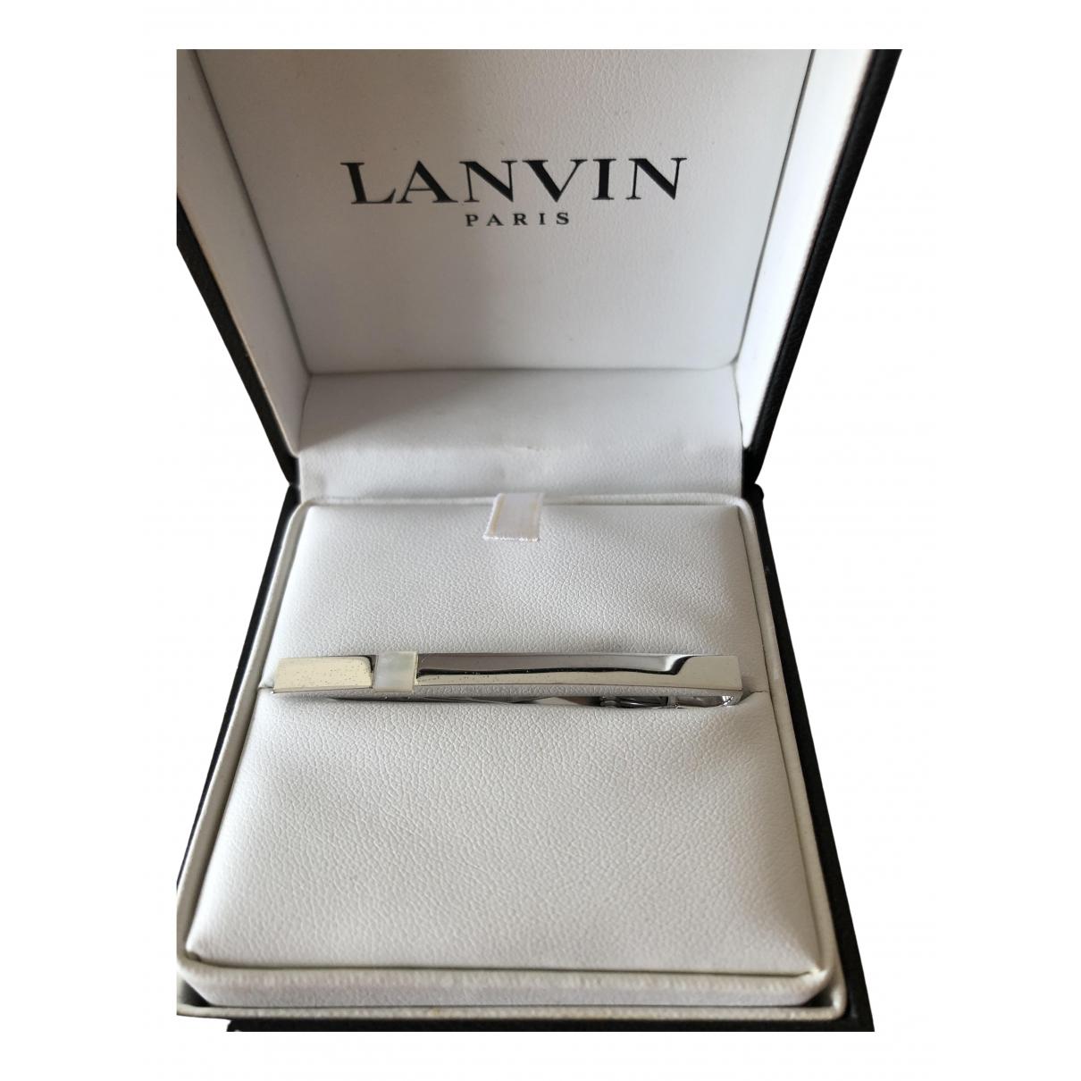 Lanvin \N Silver Metal Cufflinks for Men \N