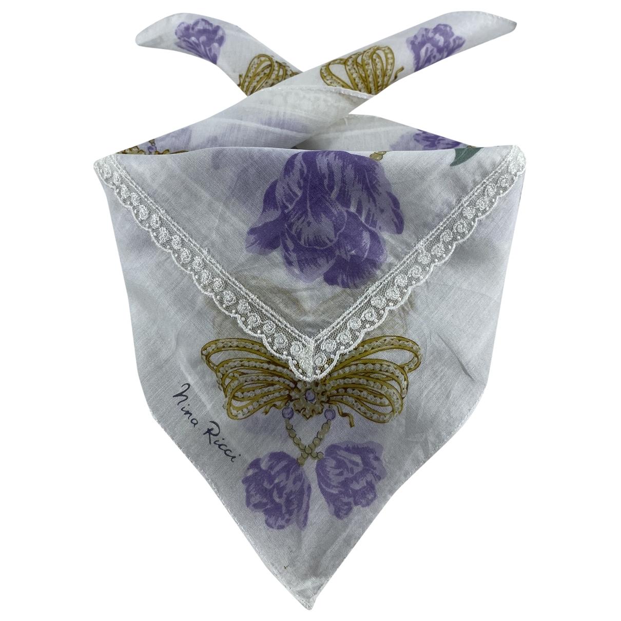 Nina Ricci \N White Cotton scarf for Women \N