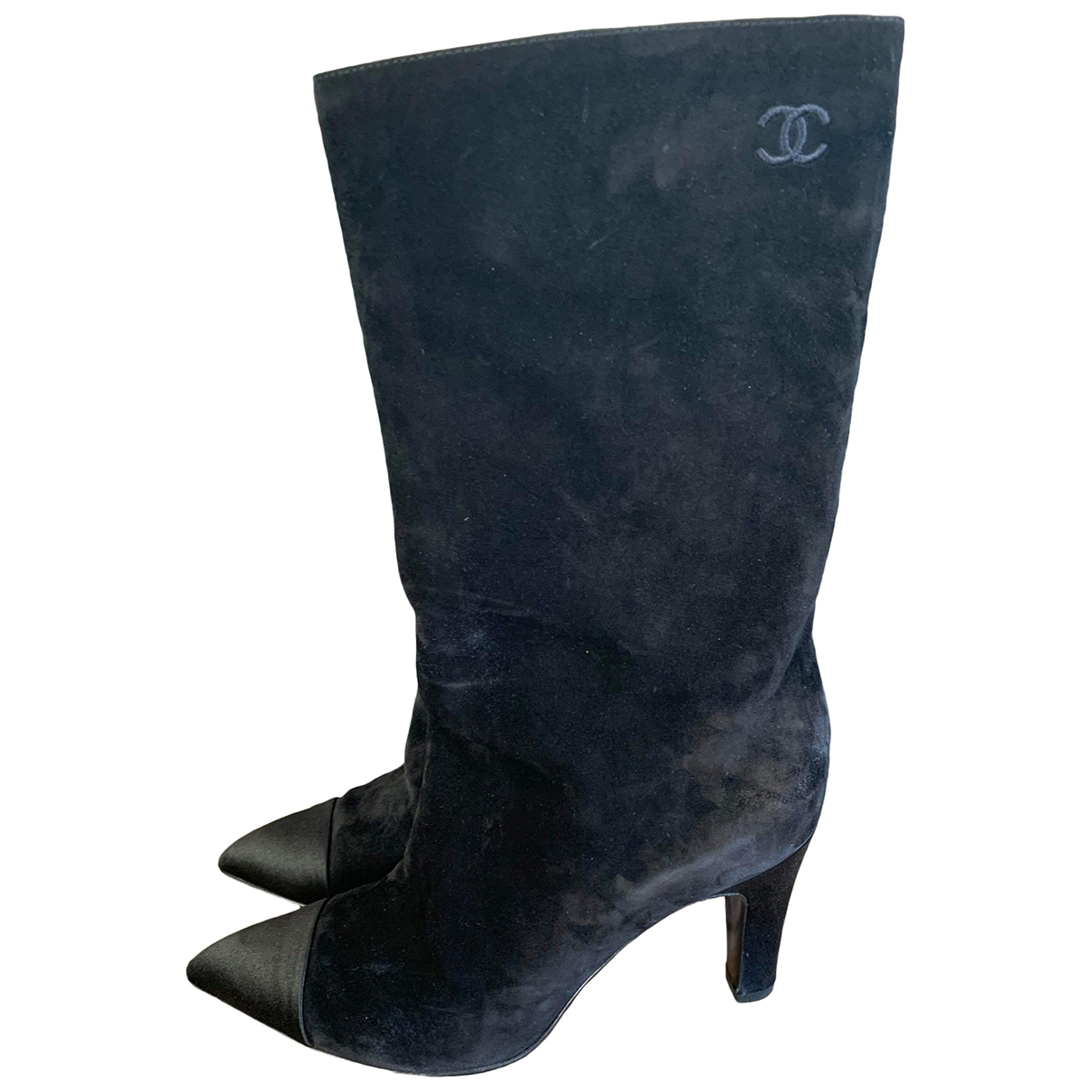 Chanel \N Black Suede Boots for Women 36.5 EU