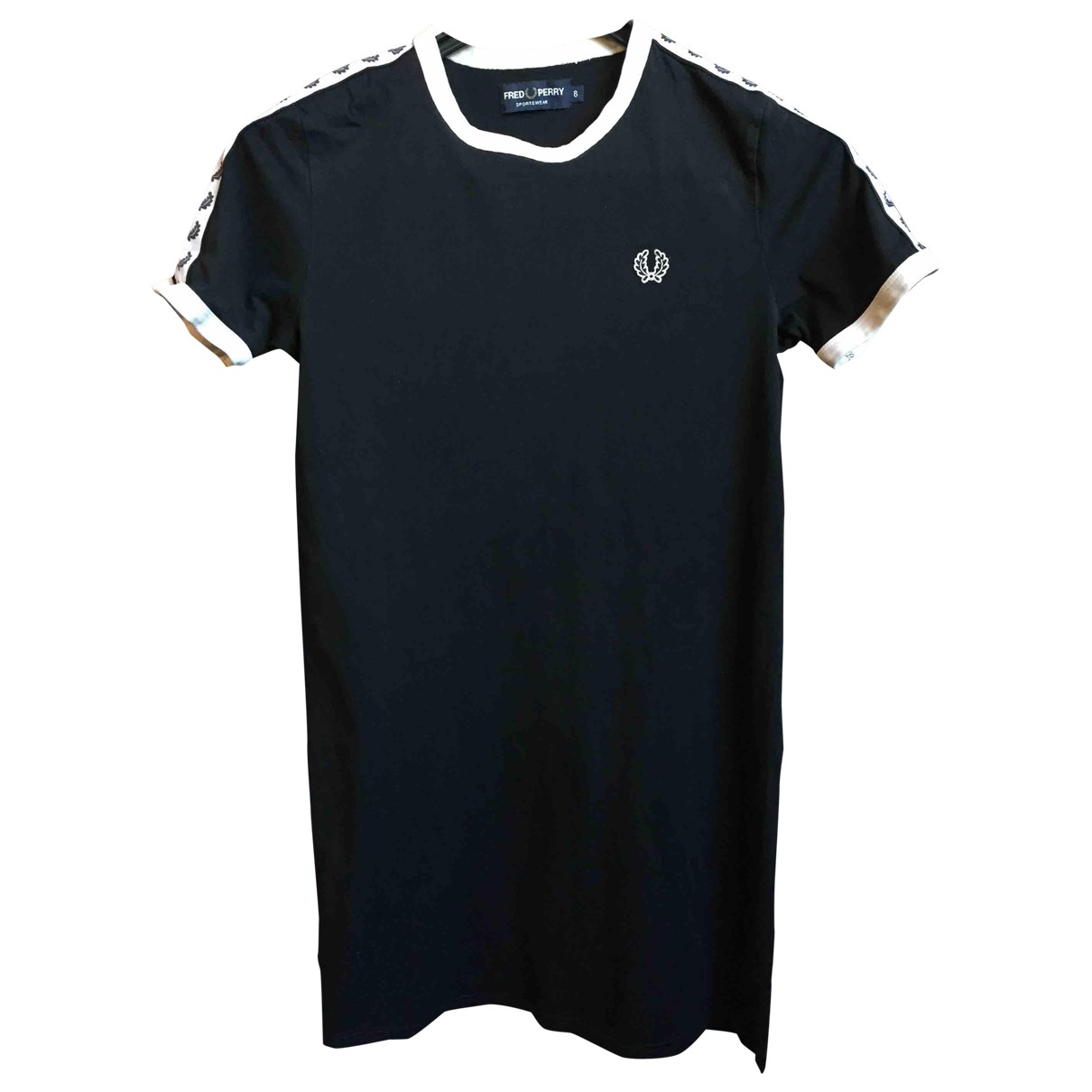 Fred Perry \N Black Cotton dress for Women 8 UK
