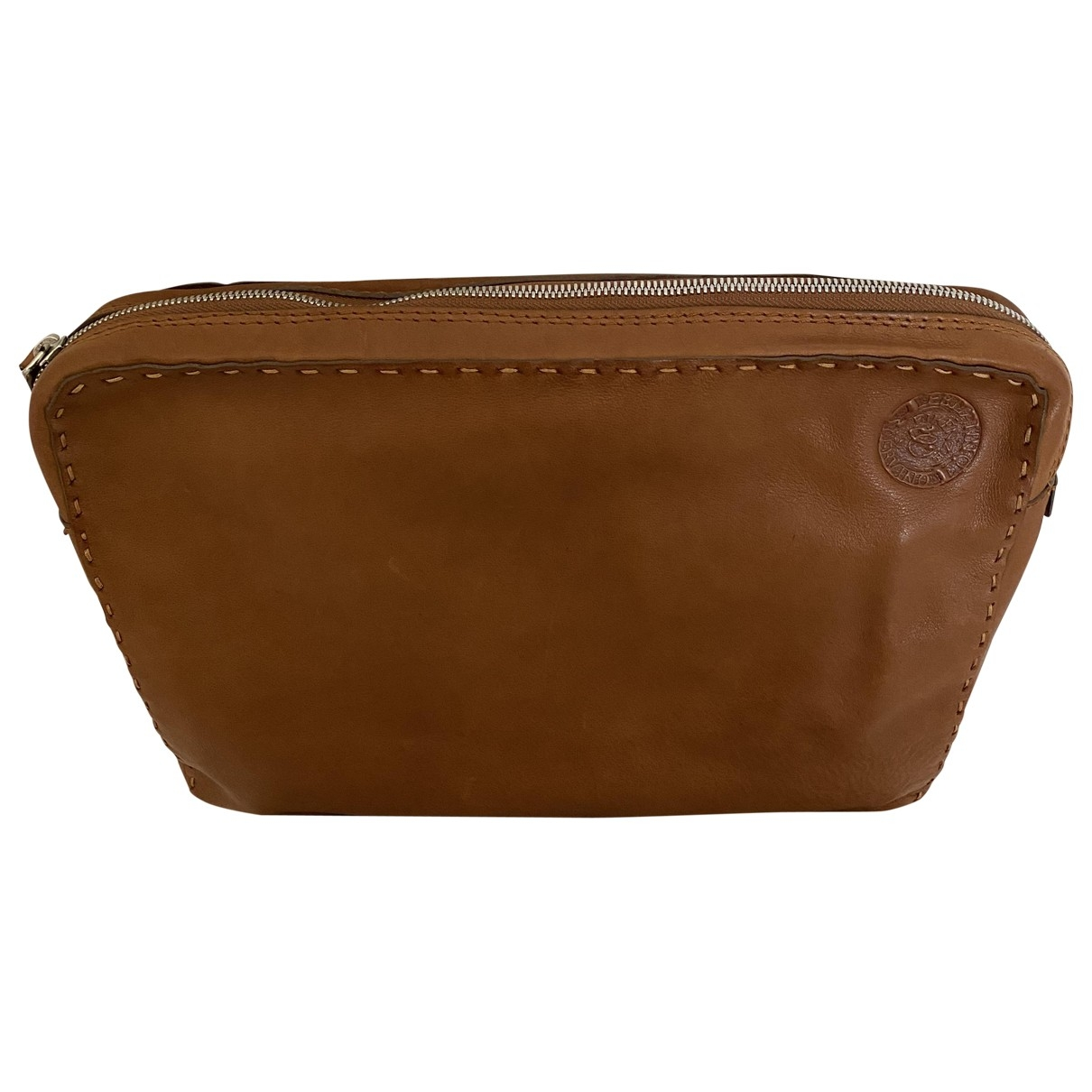 Ermanno Scervino \N Brown Leather Clutch bag for Women \N
