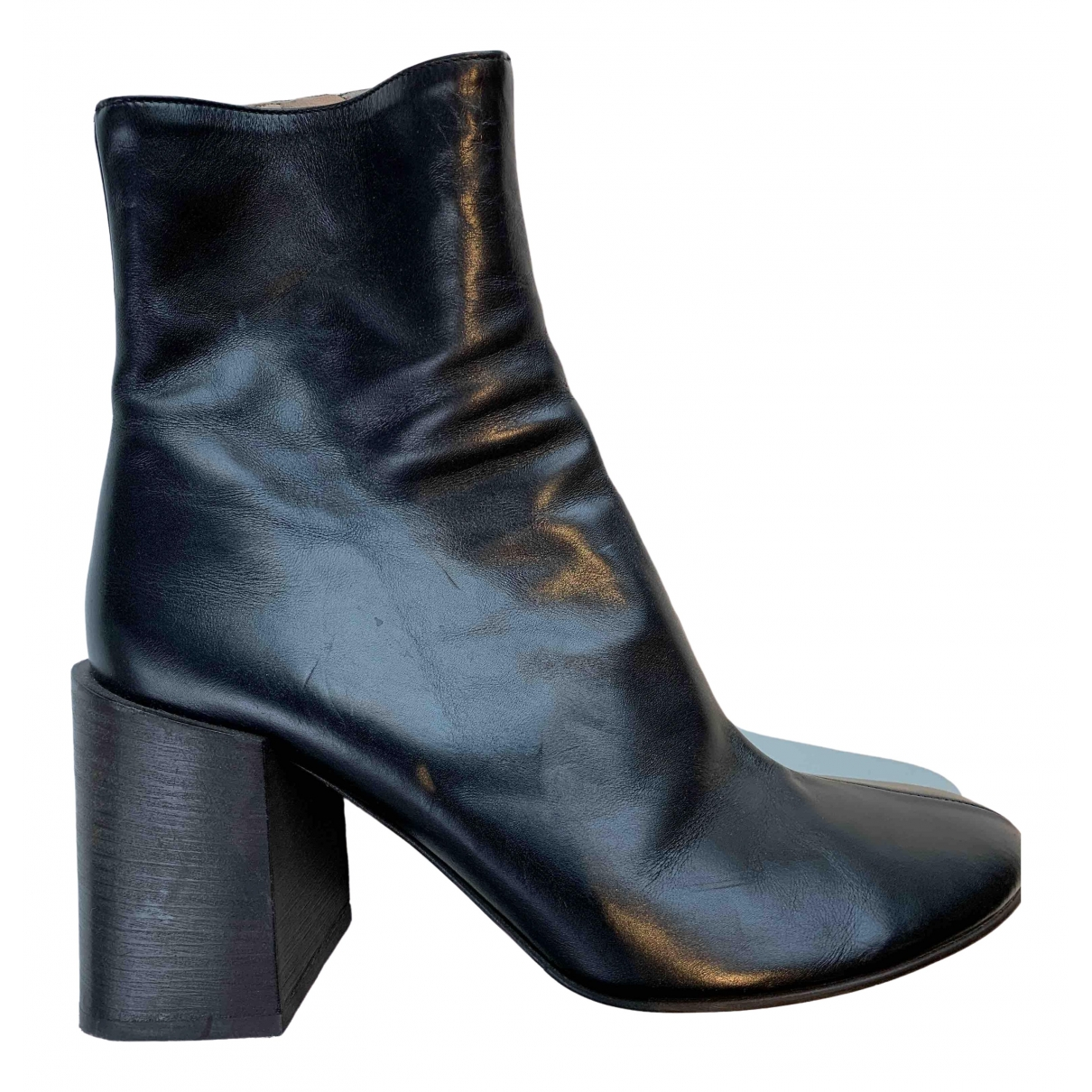 Acne Studios \N Black Leather Ankle boots for Women 39 EU