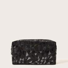 Make-up Tasche mit geometrischem Muster