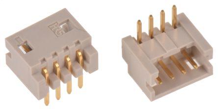Hirose , DF13, 4 Way, 1 Row, Right Angle PCB Header (10)