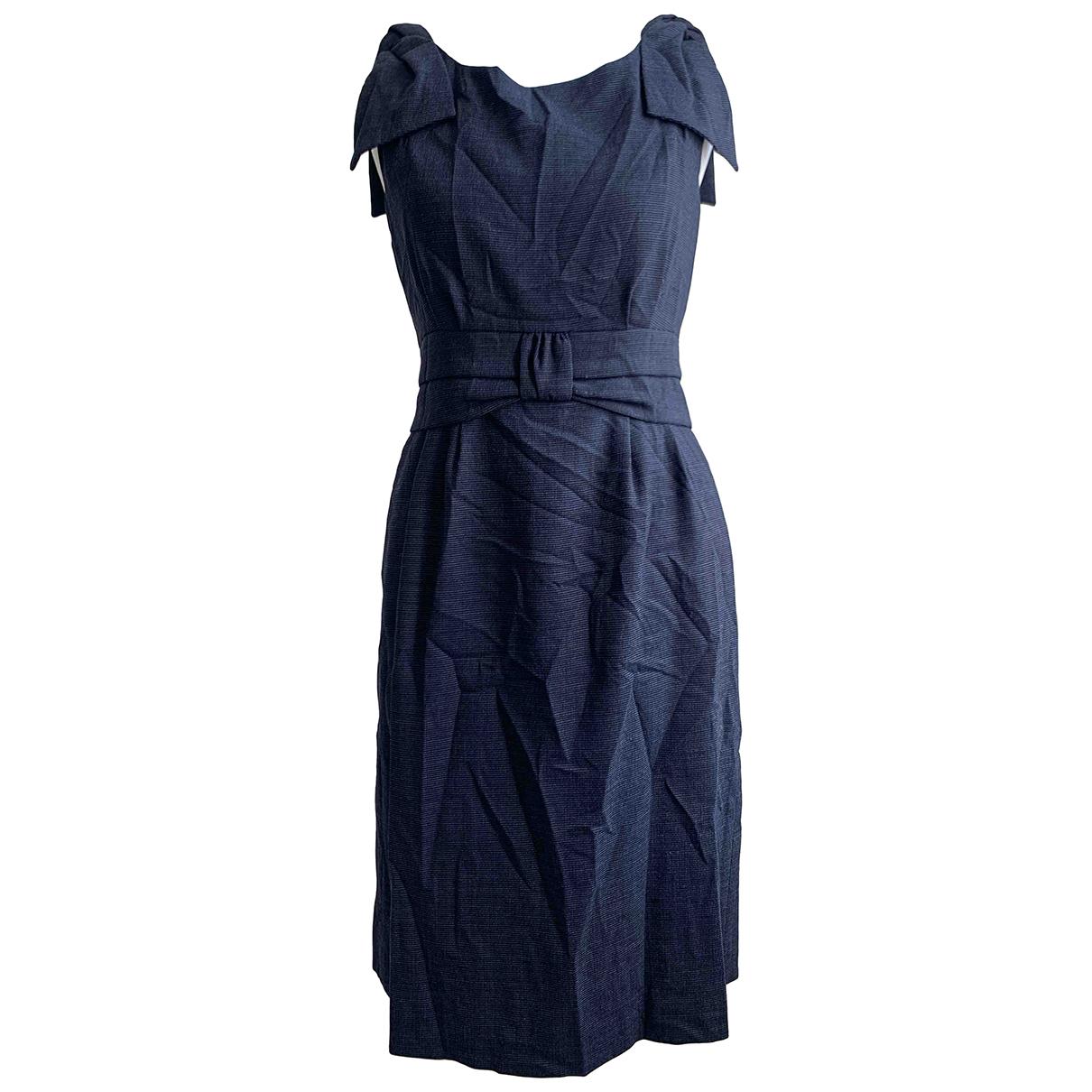 Marc By Marc Jacobs \N Kleid in  Marine Wolle
