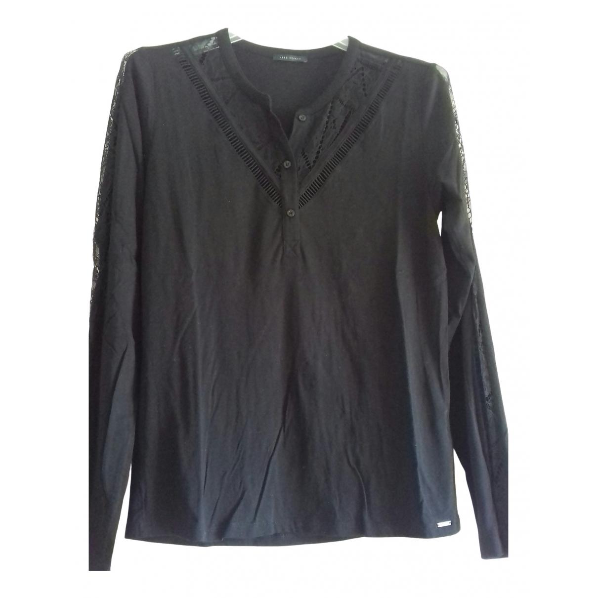 Ikks \N Black Cotton Knitwear for Women 36 FR
