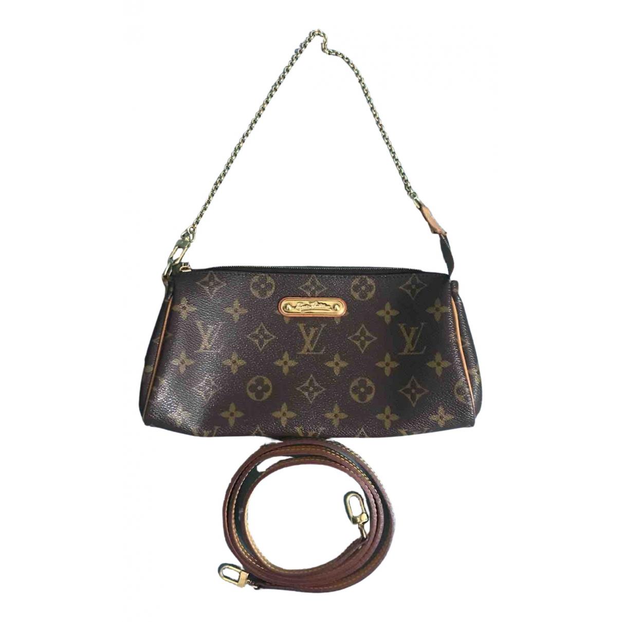 Louis Vuitton - Pochette Eva pour femme en toile - marron