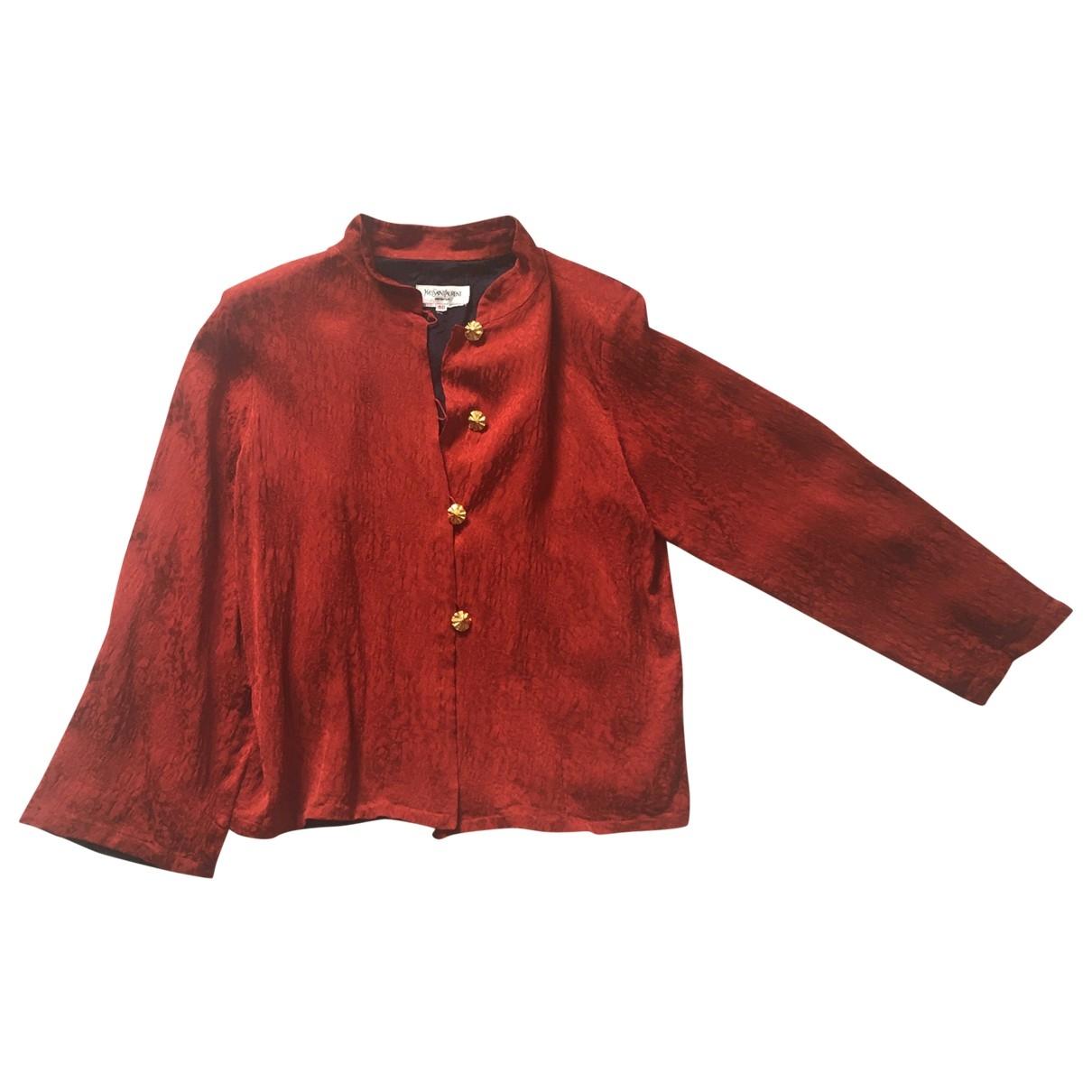 Yves Saint Laurent \N Orange Silk jacket for Women 40 FR