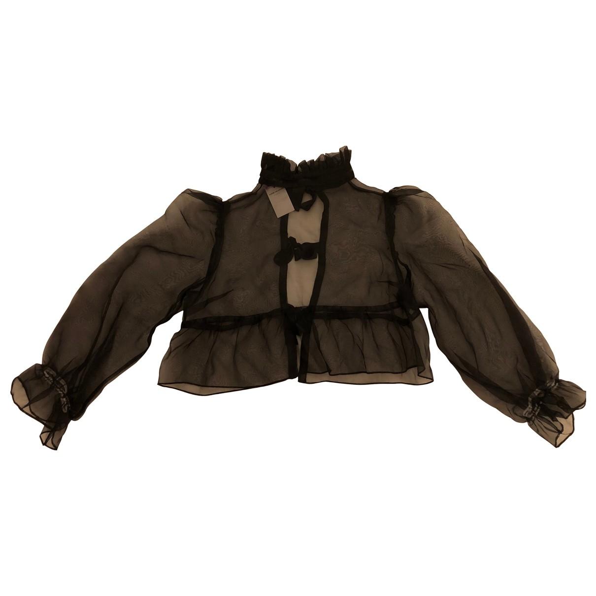 Aurore Van Milhen \N Black Silk  top for Women 36 FR